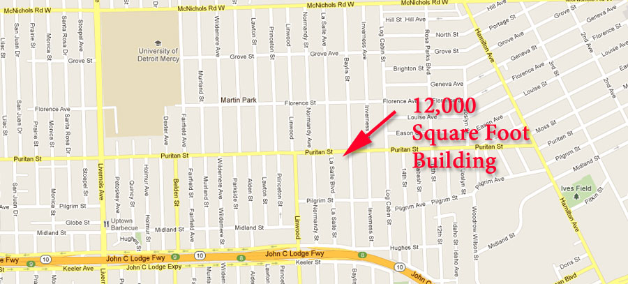 2441 Puritan, Detroit Street Map